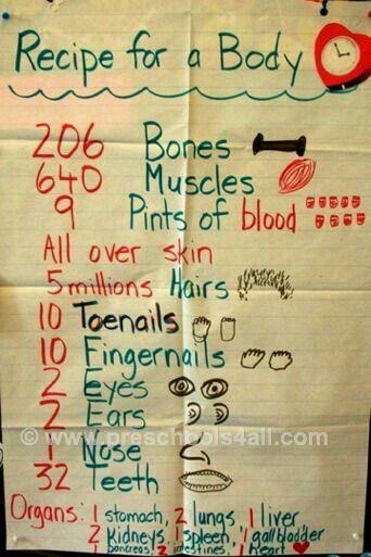Recipe of body
