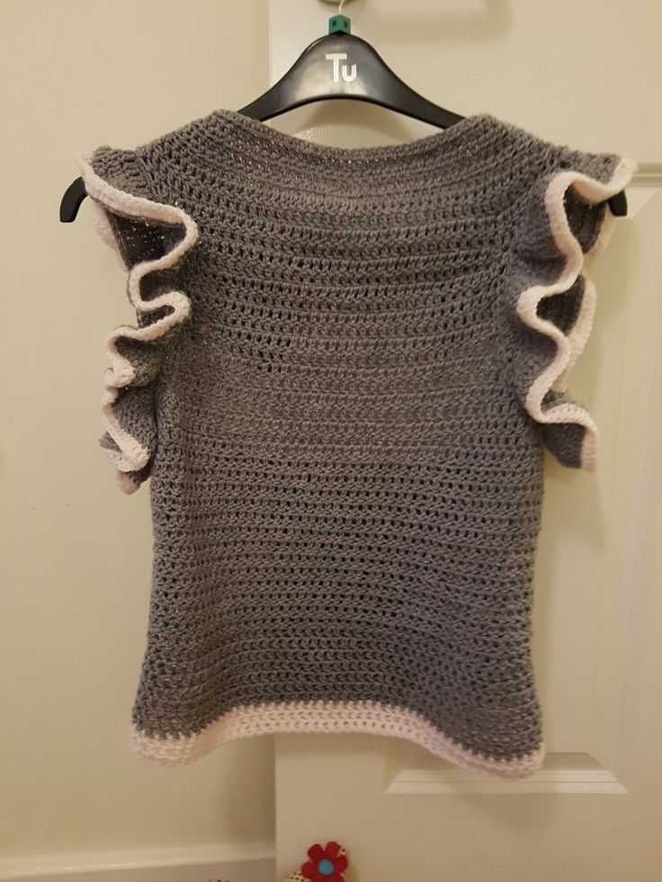 The jumper I crocheted without a  pattern!!! This is the front.