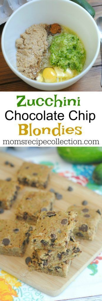 Zucchini Chocolate Chip Bars | Moms Recipe Collection