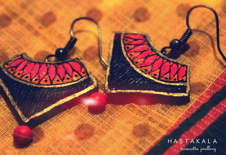 Terracotta and Quilling Jewellery HASTAKALA - an organic ethnic line of handcrafted jewellery and accessories.