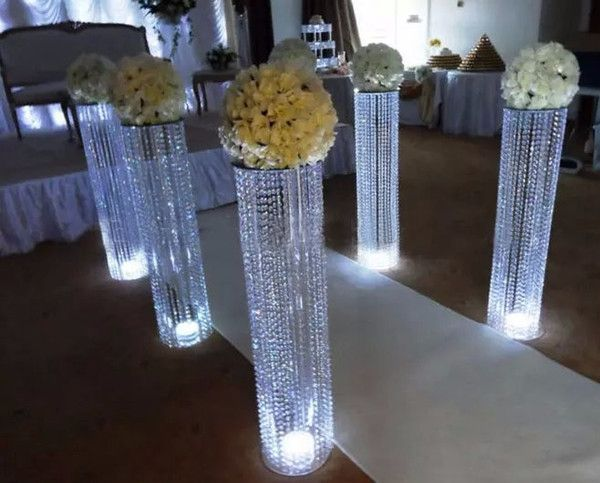Wedding Aisle Crystal Pillars Walkway Stand Centerpiece For Party Christmas Decor Dropship Buy Cheap Favours Goods From