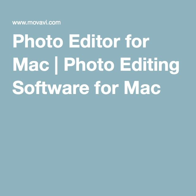 Photo Editor for Mac | Photo Editing Software for Mac