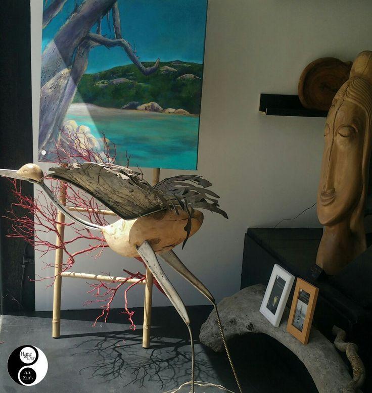 "Hans ESSLINGER ""cigogne"" #art #sculpture"