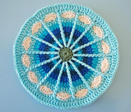 "fibrearts: "" Spoke Mandala by Marinke Slump; free pattern on Ravelry """