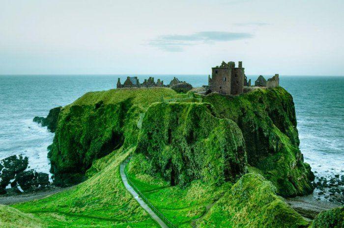 Замок Данноттар – самая неприступная крепость Шотландии