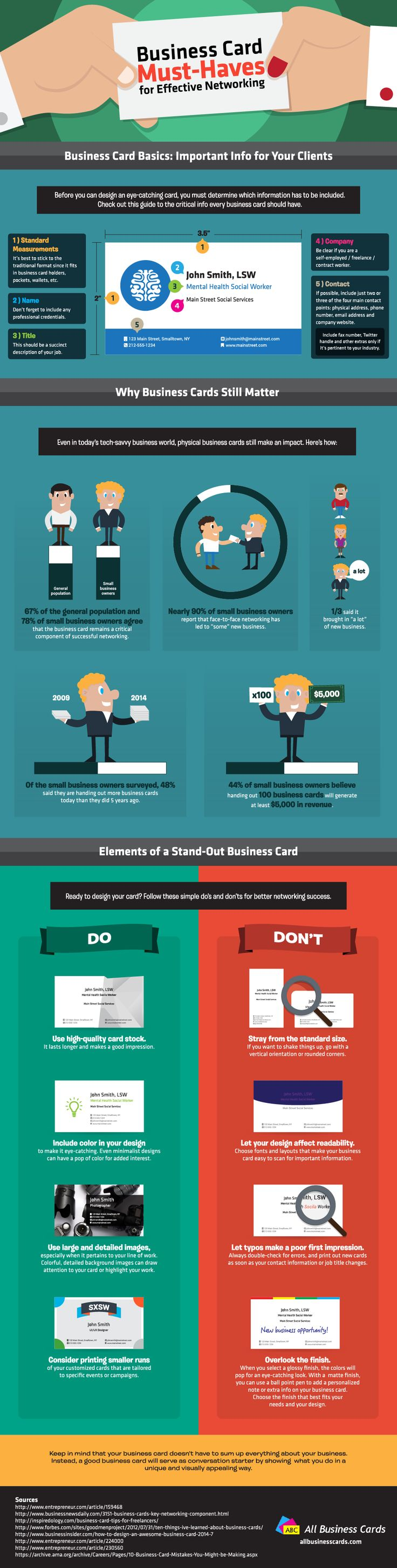 28 best infographics on business cards images on pinterest awesome marketing concepts your small business shouldnt overlook including business cards colourmoves