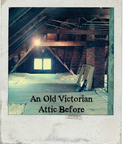 DYING to renovate the attic of our new home! This one's before pictures look nearly identical to our current attic.