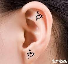 """Résultat de recherche d'images pour """"tatouage femme oreille"""""""