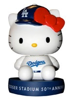 I absolutely have to go the Dodgers game on 7/1 against the Mets. The giveaway is this damn cute Hello Kitty bobblehead!!!!!!!!!!!!!