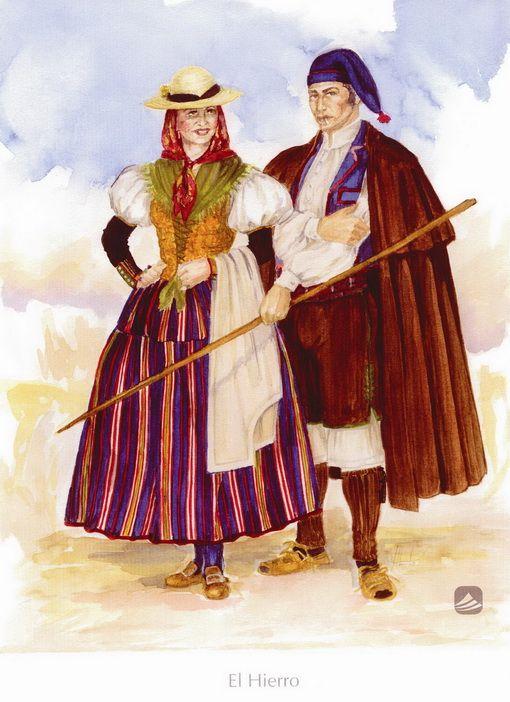 'El Hierro'. Trajes de domingo. Siglos XVIII y XIX. , BienMesabe.org