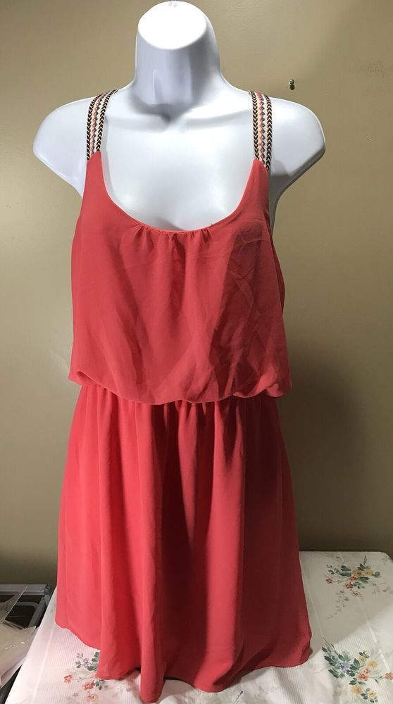Rue 21 Chiffon Dress Size L  | eBay