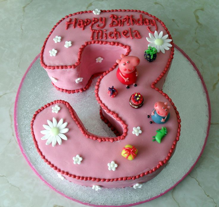 17 best Number Three Cake Designs images on Pinterest Cake designs