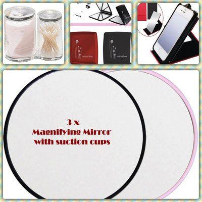 욕실면도용흡착식 확대거울 손거울 확대경 단체선물 답례품 남친선물 여친선물 Magnified suction makeup cosmetic mirror
