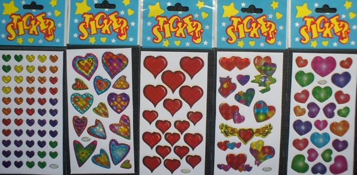 These stickers sheets are great for craft and school projects.