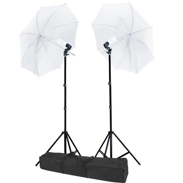 "32"" Umbrella Photo Lighting Continuous 2 Lights Kit"
