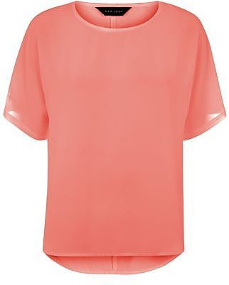 Womens coral top from New Look - £14.99 at ClothingByColour.com