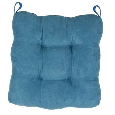 Seat Pad Faux Suede Teal