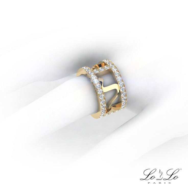"""Come and discover our new Ring """"Angel Love Diamonds"""" on www.lo-and-lo.com #ring #diamond #bague #diamant #Love #lamed #luxury #loandlo #loandloparis #alliance #or #gold #origine #joaillerie #jewelry #jewellery #weddingring"""