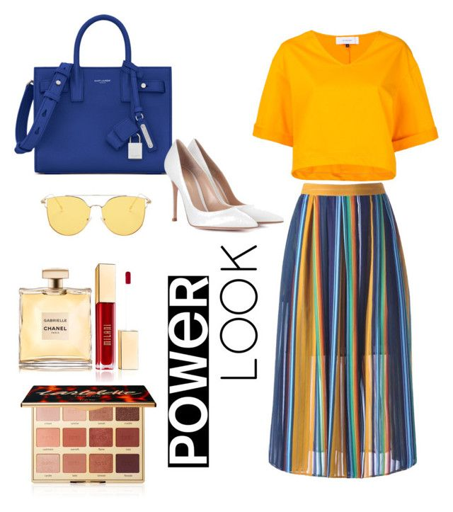 """Untitled #57"" by hfirlyana on Polyvore featuring Le Ciel Bleu, Yves Saint Laurent, Gianvito Rossi and tarte"
