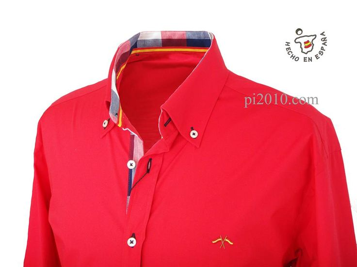 Camisa roja con cuadros http://www.pi2010.com/Bandera-España-Hombre/Camisa-bandera-España-hombre/camisa-roja-bandera-españa #camisbanderadeEspaña #camisaespañola #fabricadoenEspaña  Si te gusta, comparte