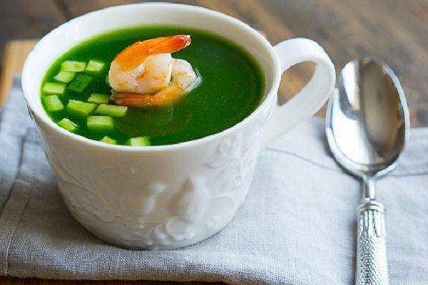 Огуречный суп с креветками / Едальня