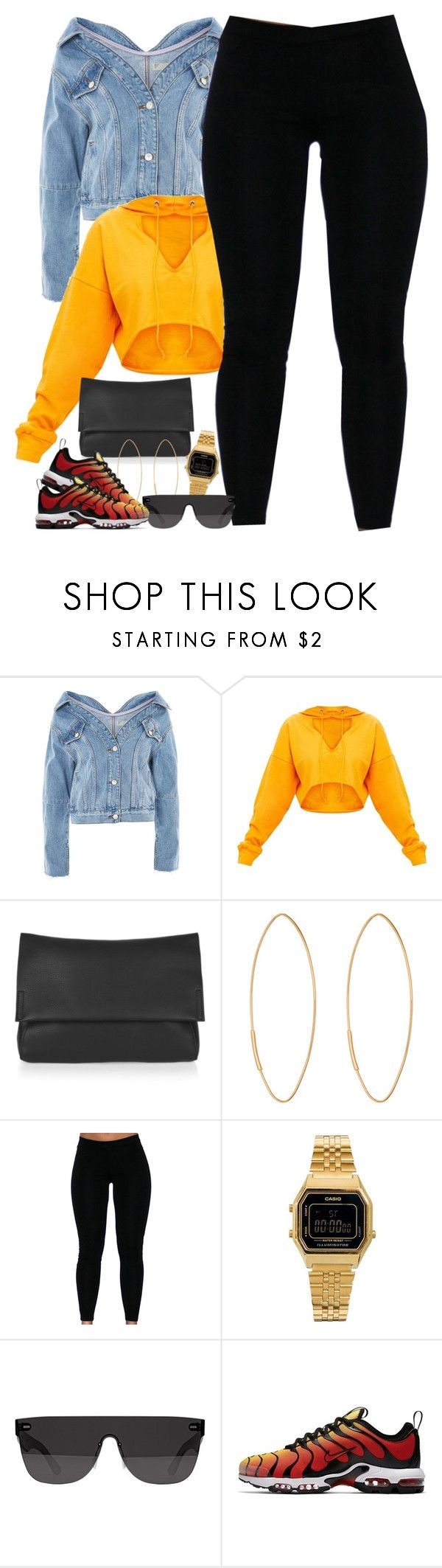 """Untitled #1646"" by power-beauty ❤ liked on Polyvore featuring Topshop, Lana, Casio, RetroSuperFuture and NIKE"