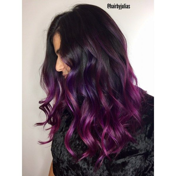 Rich Purple Balayage Purple Balayage Balayage Hair Styles