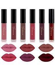 Rechoo 6 Colors Beauty Lip Gloss Wasserdichter, langlebiger, flüssiger Mattlippenstift – Beauty