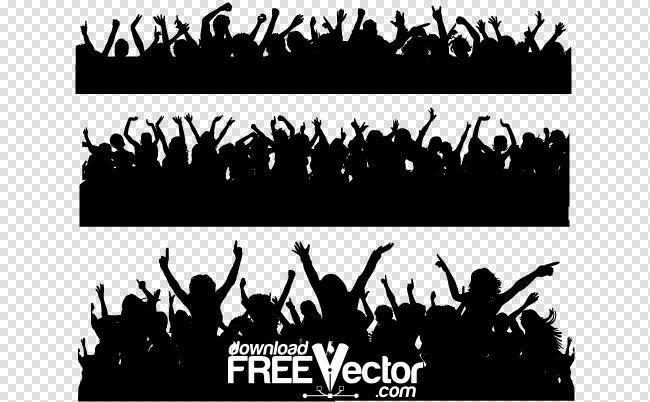 Толпа силуэт вектор Бесплатный