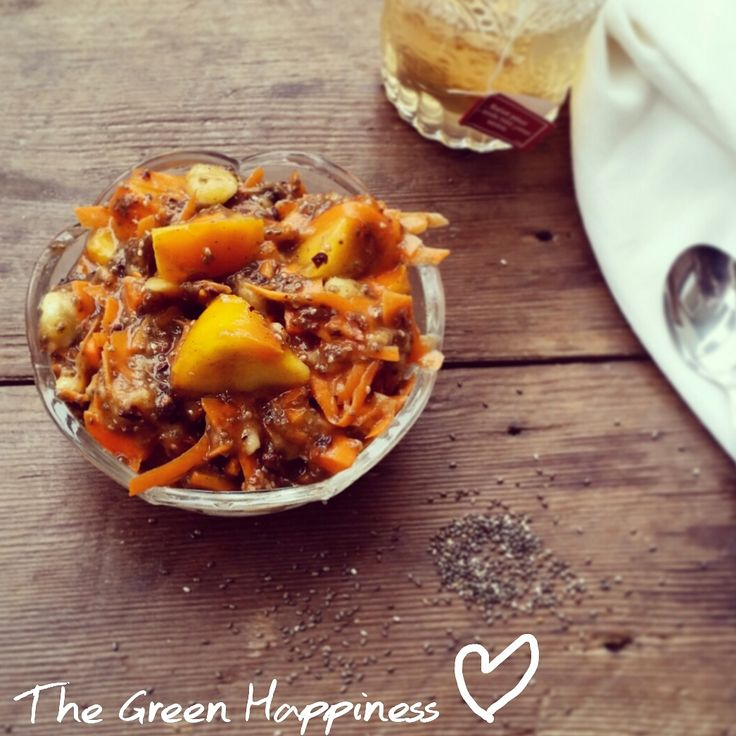 Kaki - Carrot breakfast with chia seed Recipe on www.thegreenhappiness.com or on our Facebook page