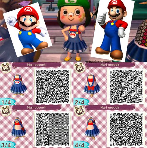 Mario Summer Dress , Animal Crossing New Leaf QR Code