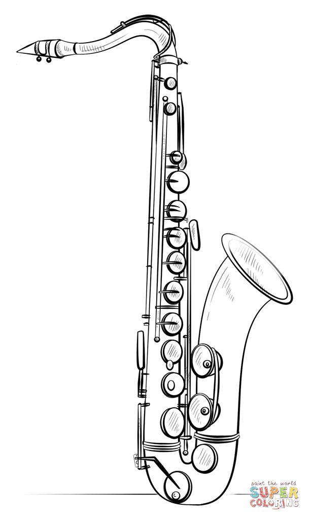 Click the Saxophone coloring ...