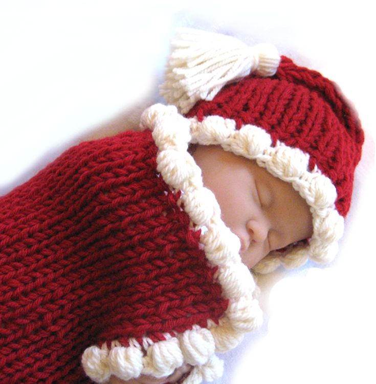 Christmas Knitting Patterns Easy : Christmas Baby Cocoon Set Fast & Easy CrochetHolic - HilariaFina Pint...