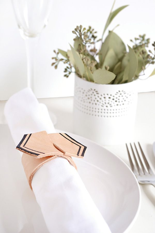 Make + party | Leather napkin rings