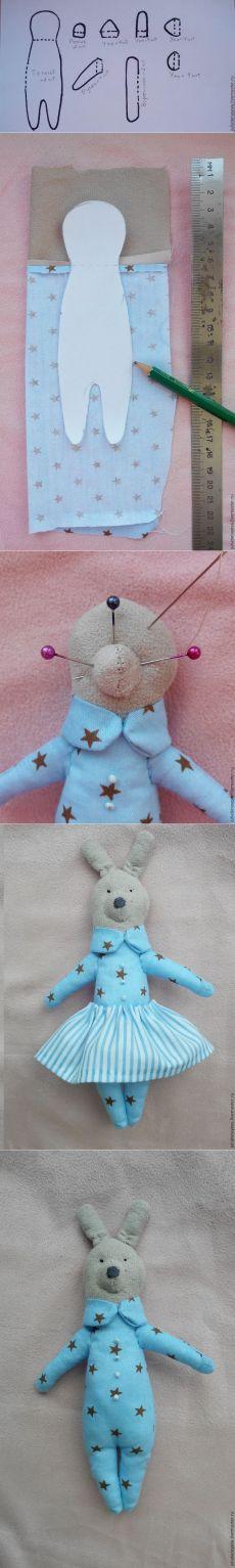 Master class on sewing a miniature textile Bunny - Fair Masters - handmade, handmade