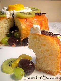 Sweet 'n' Savoury: Savarin-Yeast in my cake!! Twin Trials for Daring Bakers