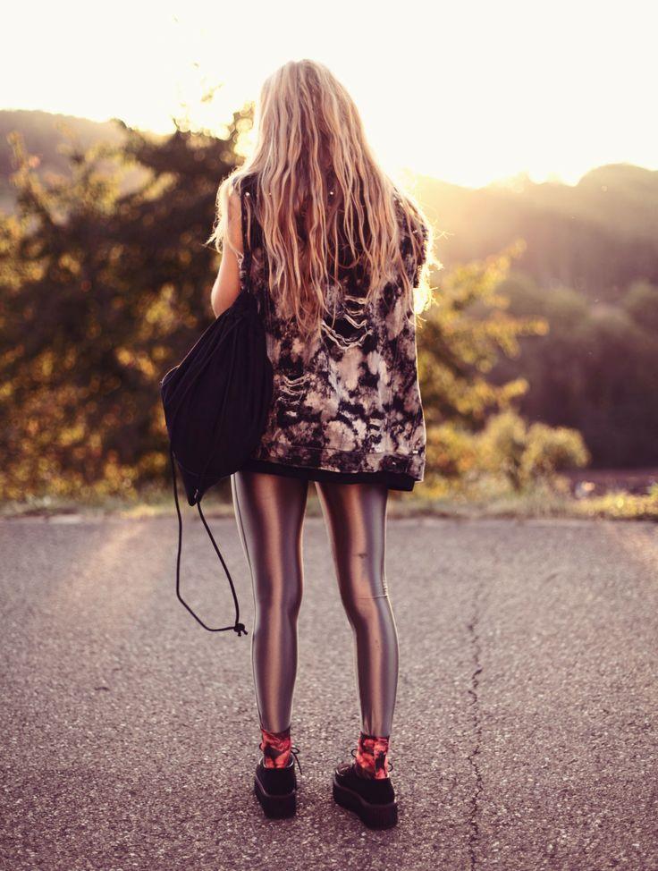 Fashion Photographer Jessica Christ wearing our Black Gym Bag.