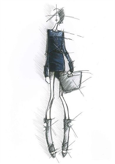 Salvatore Ferragamo Sketch