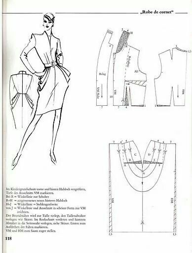 Cartamodello abito con pieghe 1