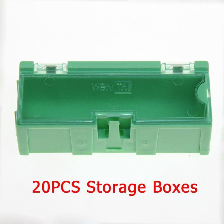 20 stks Groen SMT SMD Kit antistatische Laboratorium Elektronische Componenten Opslag Dozen Tool Case gratis verzending
