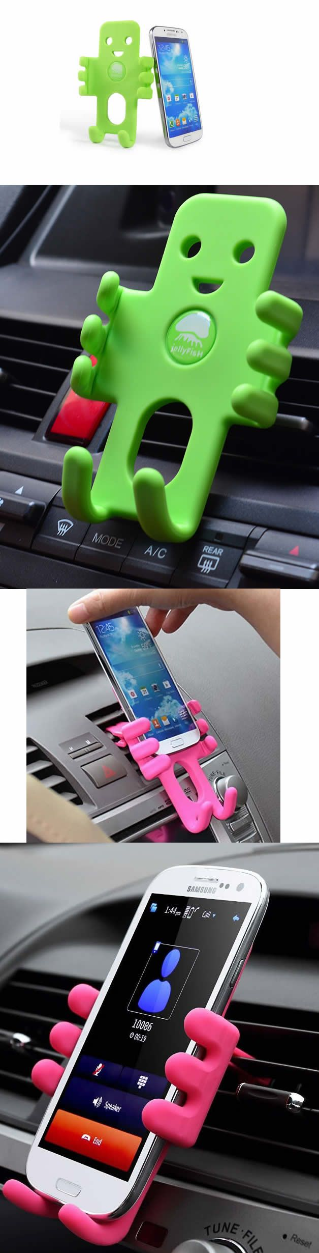 Silicone doll cell phone smartphones air vent car mount holder
