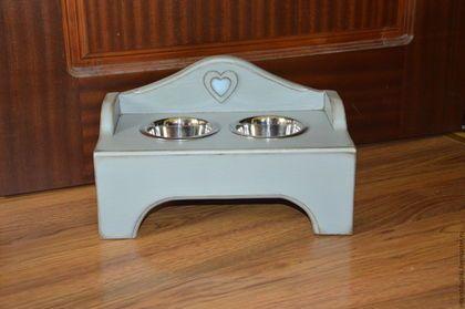Мебель ручной работы. Ярмарка Мастеров - ручная работа. Купить Подставка под миски для собак или кошек. Handmade. Голубой