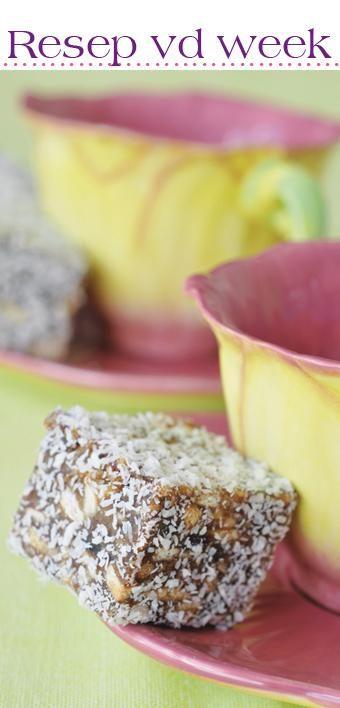 Date squares #recipe #Wêreldbakdag  | Dadelblokkies