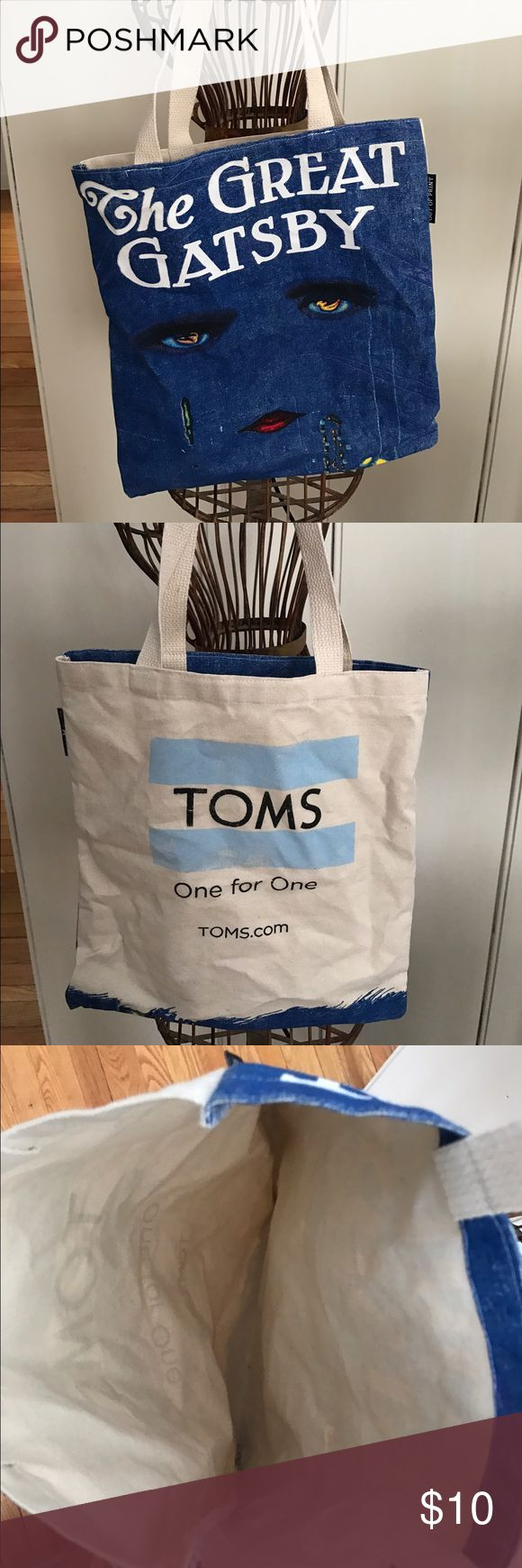 "Limited Toms reusable bag ""The Great Gatsby"" Reusable bag from Toms with the original The Great Gatsby cover. Excellent bag perfect for on the go! TOMS Bags Shoulder Bags"