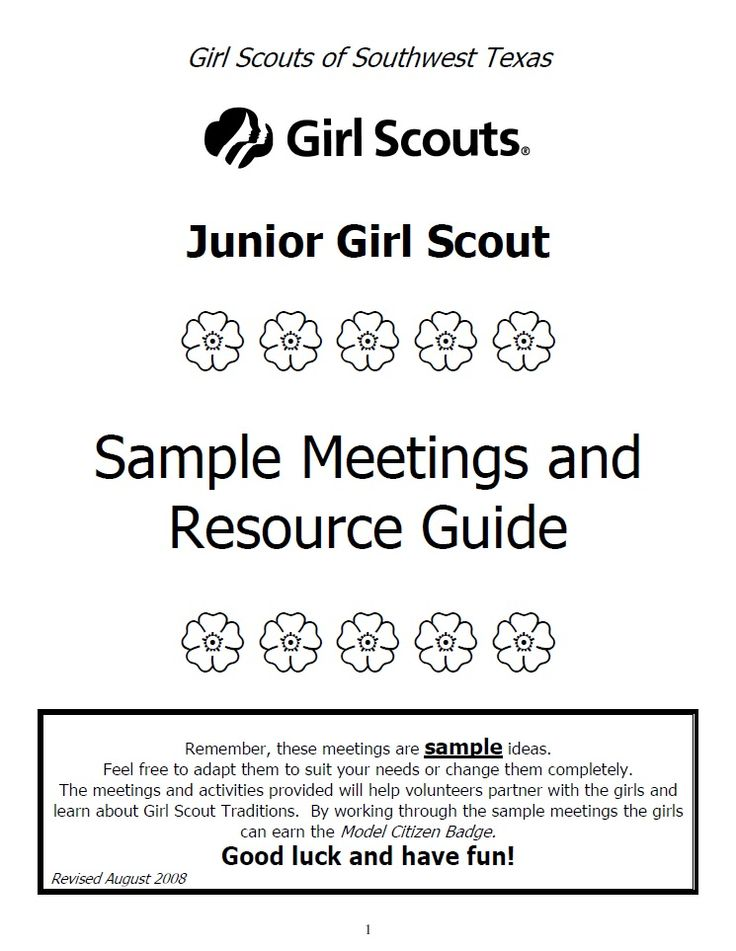 girl scout junior sample meetings girl scout junior pinterest girl scouts girl scout. Black Bedroom Furniture Sets. Home Design Ideas