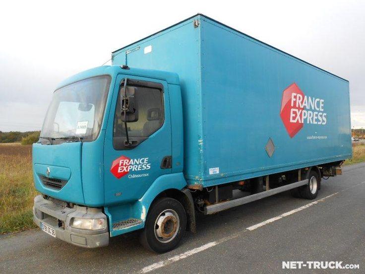 Camion RENAULT Midlum 180.12B - Caisse fourgon + Hayon élévateur