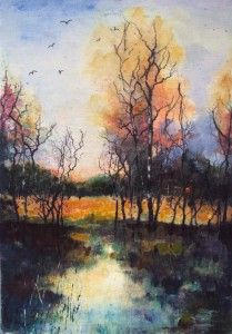 Trees Reflected Light by Teresa Tanner