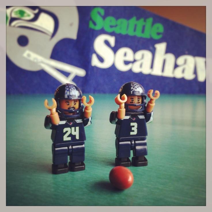Seahawks minifigs touchdown