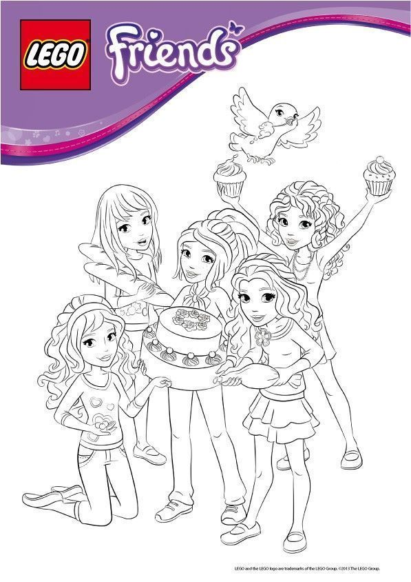 Coloriage Lego Friends A Imprimer At Supercoloriage Lego Friends Lego Friends Birthday Lego Friends Birthday Party