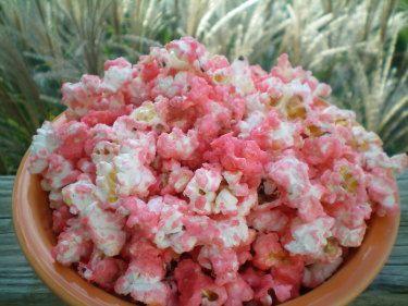 Sweet Pink Popcorn